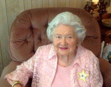 All birthdays are special.  Some are very special.   Some involve very special P.E.O. members like Mary Virginia Stanford who reached age 90 on July 12, 2013.