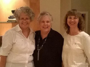 Diane Howse, Doris Anderson (new initiate) and Jan Long