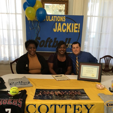 Janice Nix, Jackie Nix, and Thomas Neal Rogers (Jackie's softball coach at Deshler High School)