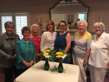 Margaret Mock, Debra Laughlin, Bette Bryan (PSP), Elizabeth Harber (mother), Christine Christensen (daughter and initiate), Jo Shipp and Peg Carlton.