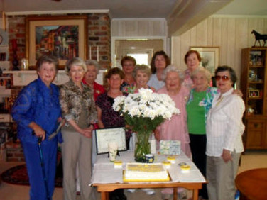 Front row; Margaret Mock, Hope Inman, Debra Laughlin, Helen Rittenour, Mary Virginia Stanford, Martha Stripling, and Marty Kyker.  Back row; Bette Bryan, Su Ofe, Nancy Deabler, and Martha Given.