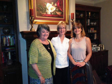 New sisters, Judy Starkloff (L) and Veronica Chkadua Thompson (R), with Barb Tonn, following initiation on June 2.