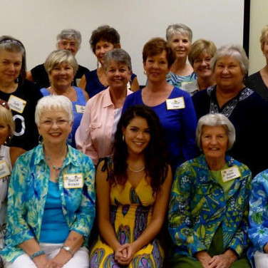 """Members of Chapter AG, Foley, at Tiara Rowell's """"Off-to-College"""" Shower"""