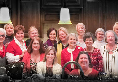Chapter AB Shares Their Christmas Photo...at the home of Evelyn Hume in Fairhope, AL