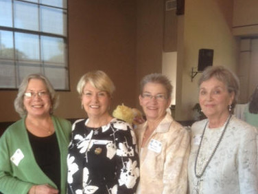 Enoying the celebration are Gayle Howell, PSP, Ch AC, Shirley Paramore, Alabama President, Marilyn Mancini, PSP, Ch AC, and Sylvia Hellums, PSP, Ch I.