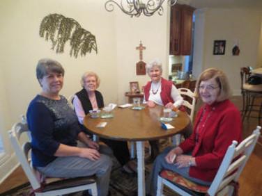 Iris Jackson, Jan Newell, Marilyn Cardno, and Shirley Stokes.