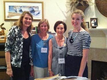 Mother Lisa Schneider, Lou Ann Holton, Chapter AB STAR committee member, Barbara Lassiter, President Chapter AB, and Rebecca Schneider, STAR candidate.