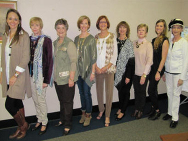 Models are ready for the program -  Betty Smith, Alabama State President, participated  (she is second from the left).