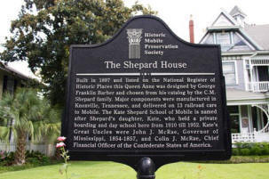 The Historic Marker for the Kate-Shepard House