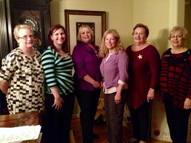 Left to right, Tina Bartlebaugh (Guard), Sarah Allen (President), Holly Carpenter (Corresponding Secretary), Beth Beck (Treasurer), Jane Romines (Chaplain), Rita Reese (Vice President).