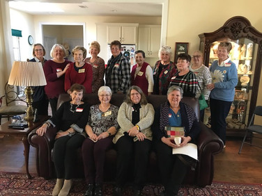 Chapter AG snowbird coffee held at Sheila Morgan's home.