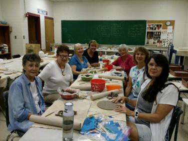 Left to right: Jocelyn Nickerson (Chapter W), Barbara Minsky, Liz Olliff, Catherine Fancher, Paula Kulbaga, Jan Long and Janet Angelovich.