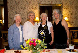 Hostesses - JoAnne Dunnam, Gayla Wiik, Judy Tyler, and Wendy James