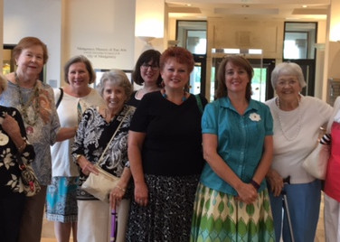"""Several members of Chapter K, Montgomery, enjoyed the """"art of sisterhood"""" with lunch and a tour at the Montgomery Museum of Fine Arts on Saturday, August 26th."""