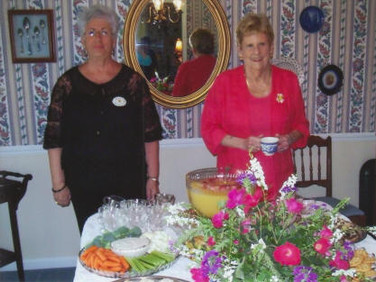 Nancy Walter and Hostess Peggy Hase