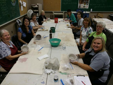 Chapter AH attended a bowl making session for the Empty Bowls Dothan Project.