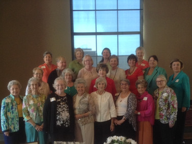 Front Row L to R – Helen Gibson, Mary Helen Terry, Jane Joslin, Jan Lee, Carol Baggett, Muir Steward, Joan Mitchell and Lois Lewis. Second Row – Elaine Waltman, Kathy Gilbert, and JoAnn Cook Third Row – Elizabeth Aversa, Amelia Dodd, Sylvia Hellums, Lisa Whisenant, Julie Morgan, and Mary Carter. Back row:  Cindy Harris, Julia Stewart, Molly Pruitt, and Chris Chesser.