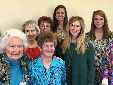 L to R: Peg Carlton, Mary Virginia Stanford, Hope Inman, Sue Ofe, Debra Laughlin, Betsy Cagle, Lindsay Smith, Grace Smith, Margaret Mock