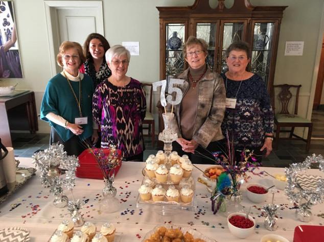 Joan Porter, Margaret Simms, Olivet Willis, Julie Breeden, and Carol Hinshaw
