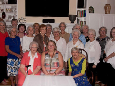 Chapter C's First Meeting This Year in the Home of Judy Weaver. Rebecca Reardon, Organizer, Also Visited.