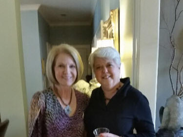 """Susan Aldridge and Cynthia Weimer planning a  """"Chapter O Girls Get Together"""" at their condos  in Orange Beach, AL in April."""