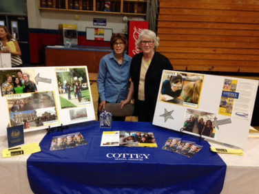 Judy Strada, Chapter C , Alabama Cottey College Scholarship and Recruiting Committee chair and Paula Johnson, Chapter C, attended Bay Area College Night, October 13, 2014 at St. Paul's Episcopal school in Mobile.  8 young women were interested in Cottey College.  They were from the Alabama School for Math and Science.