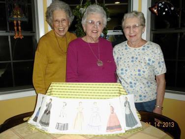 Chapter V members: Jean Beverly, Martha Overstreet, and Pat Sand