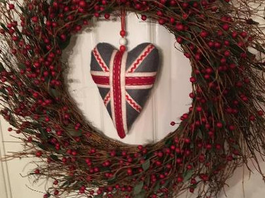 Scottish Heart in wreath - Welcome