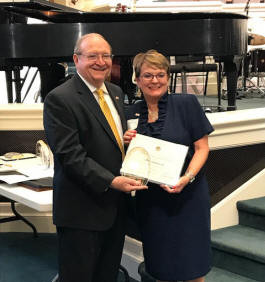 Janice Charlesworth received a lifetime achievement award for 20 years of service from the Alabama Senior Citizens Hall of Fame.