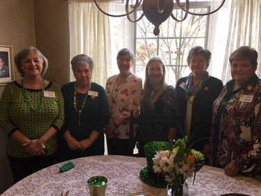 Wathan Hand - Corresponding Secretary, Nancy Piccolo - Treasurer, Kathryn Whaley - Vice President, Patsy Nickerson - President, Sandra Ray - Guard, and Ann Brock - Recording Secretary. Pat Cone - Chaplain is not in this photo.