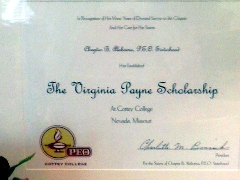 The Virginia Payne Scholarship