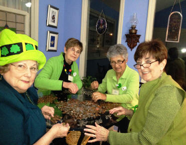 Mavis Stevens, BJ Breeding, Jean Coshow, and Joyce Boyd are busy counting change too.