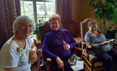 Mary Elizabeth Furnald, PSP of GA, Nancy Williams, and Chapter O President, Margie Moody