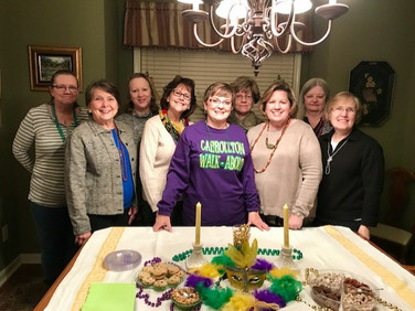 Members of Chapter Y are Jessie Lawton, Elise Hicks, Linda Carter, Susan Hargrave, Janice Charlesworth,  Cathy Fain, Janice Samford, Mary Donald and Debra Cunningham