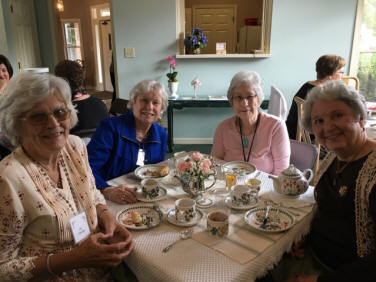 Lea Cummings, Margaret Boss, Patty Harlow, and Mary Compton, chairman