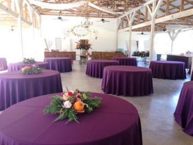 Set up begins for Dinner in the Vineyard