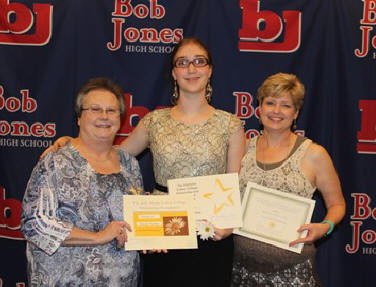 Nancy Wickwire, Ch S, (left) and Bonnie Davis, Ch AL, (right) presented Sarah with the ACCSRC grant at her high school awards night. Congrats, Sarah!