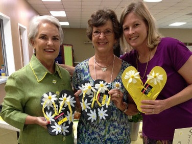 Chapter AB Fall Flip Flop Fundraiser Carol Turner, Paula Wilson , Lou Ann Holton, Chapter AB Ways and Means