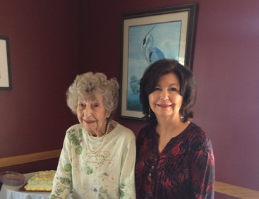 Rosemary Hubbard with her daughter, Margene, who is a member of Chapter S, Cheyenne, Wyoming.