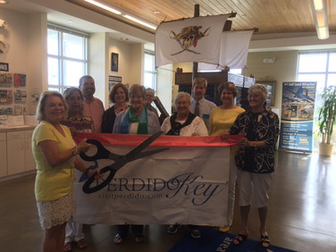 """Today PSP Nancy Sites """"talked About P.E.O."""" at a ribbon cutting ceremony for the Perdido Key Chamber!"""