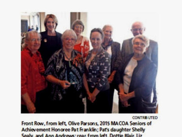 Montgomery Area Council on Aging (MACOA) recognizes local area volunteers annually. This year twelve volunteers were selected.