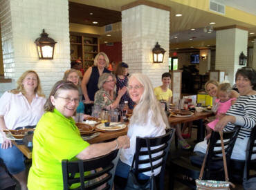 Enjoying the luncheon are: Rita Doughty, Mary Jane Taylor, Helga Visscher, Linda Cain, Gayle Howell, PSP, Ella Bryan, Peggy Lovin, Mary Bryan, Kathy Alverson, Jillian Alverson and Janice Diab.