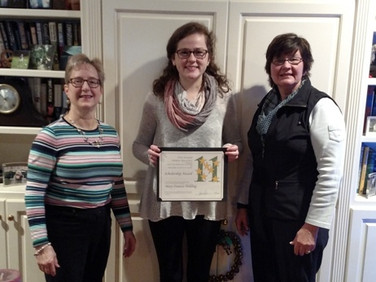 Beth Atkerson, Mary Frances Yielding, and Holly Fondots, PSP. Congratulations Mary Frances!