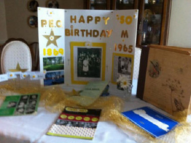 Karla Gniadek collected articles, pictures, the scrapbook and various memorabilia from 1965, Chapter M's beginning.