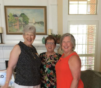 Smiling for the camera are Joyce Turner, Nancy Newton, and Lesa Alleman