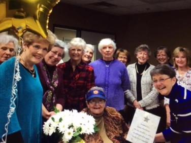 Members from Chapter J also came to honor Eunice, who was initiated into Chapter J on this day. Eunice kept saying how honored she was that so many came to see her.