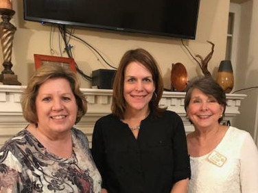 Chapter Y President, Janice Samford, our newest initiate, Ann Marie Jackson, and Elise Hicks.