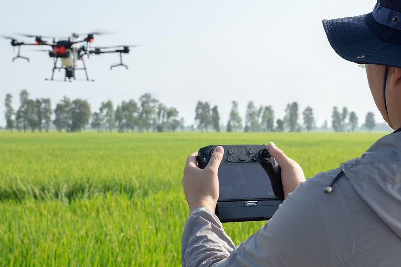 DJI Agras T20 spraying drone agriculture