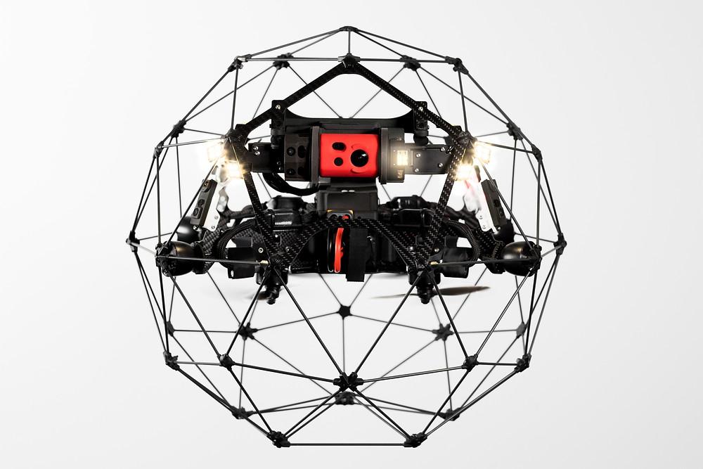 Elios 2 memiliki tampilan drone yang lebih kompleks dibandingkan dengan pendahulunya