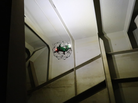 Inspeksi Jalur Kereta Api dengan Confined Space Drone Elios 2